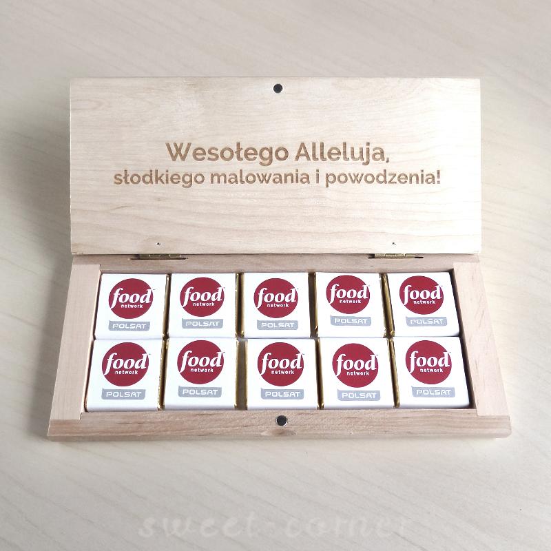 czerkoadki reklamowe w drewnianym pudełku