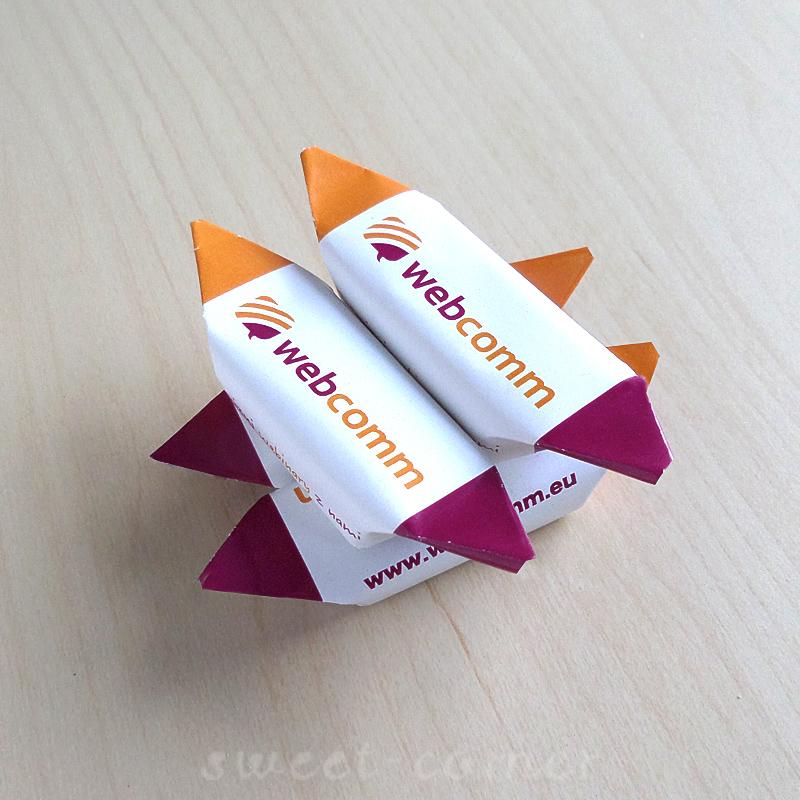 Krówki z logo Webcomm