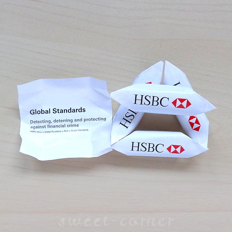 Krówki z nadrukiem dwustronnym HSBC