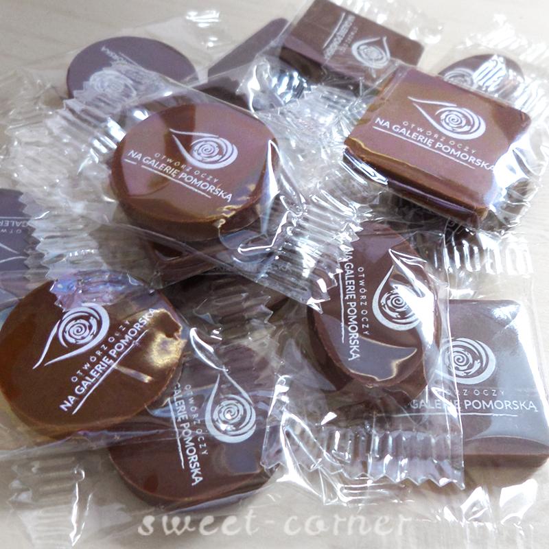 czekoladki z logo Galeria Pomorska