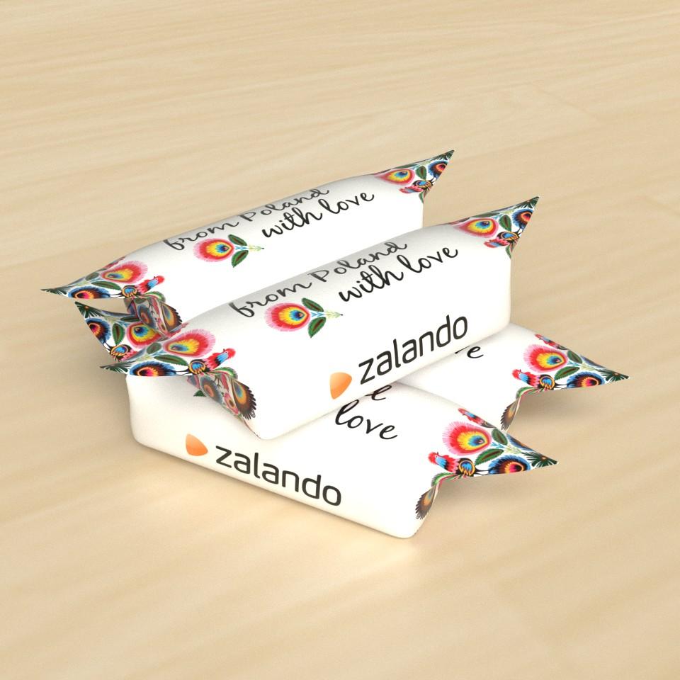 krówki z zadrukiem Zalando